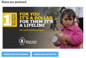 Share postcards to create awareness