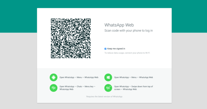 whatsapp web desktop