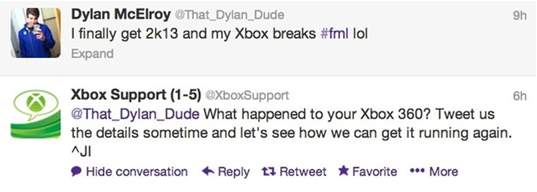 Xbox tweet