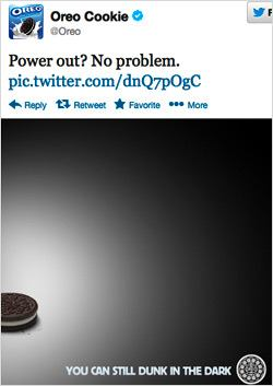 Oreo Cookie real time marketing tweet