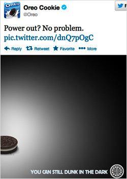 Oreo Cookie real time marketing tweet