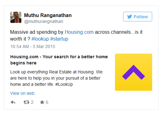 housing.com twitter post
