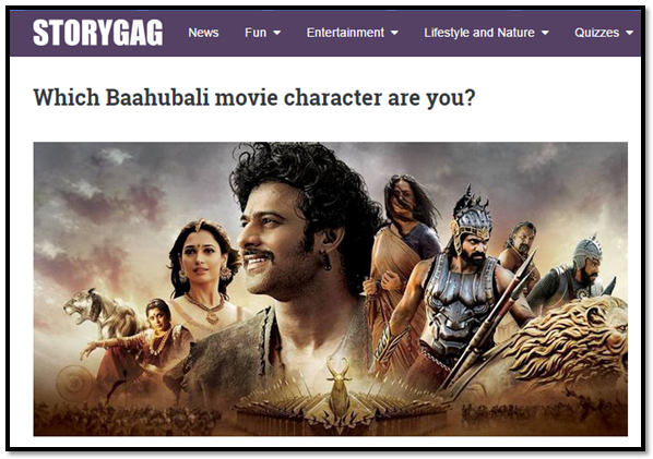 baahubali Interactive Games