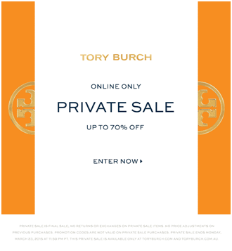 Tory Burch email marketing design