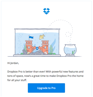 Dropbox email marketing design
