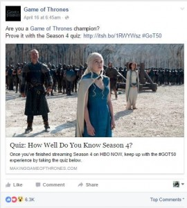 Game of Thrones uses Social Media
