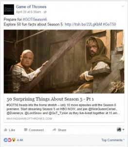 Game of Thrones uses Social Media - Ittisa Blog 2