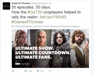 Game of Thrones uses Social Media - Ittisa Blog 5