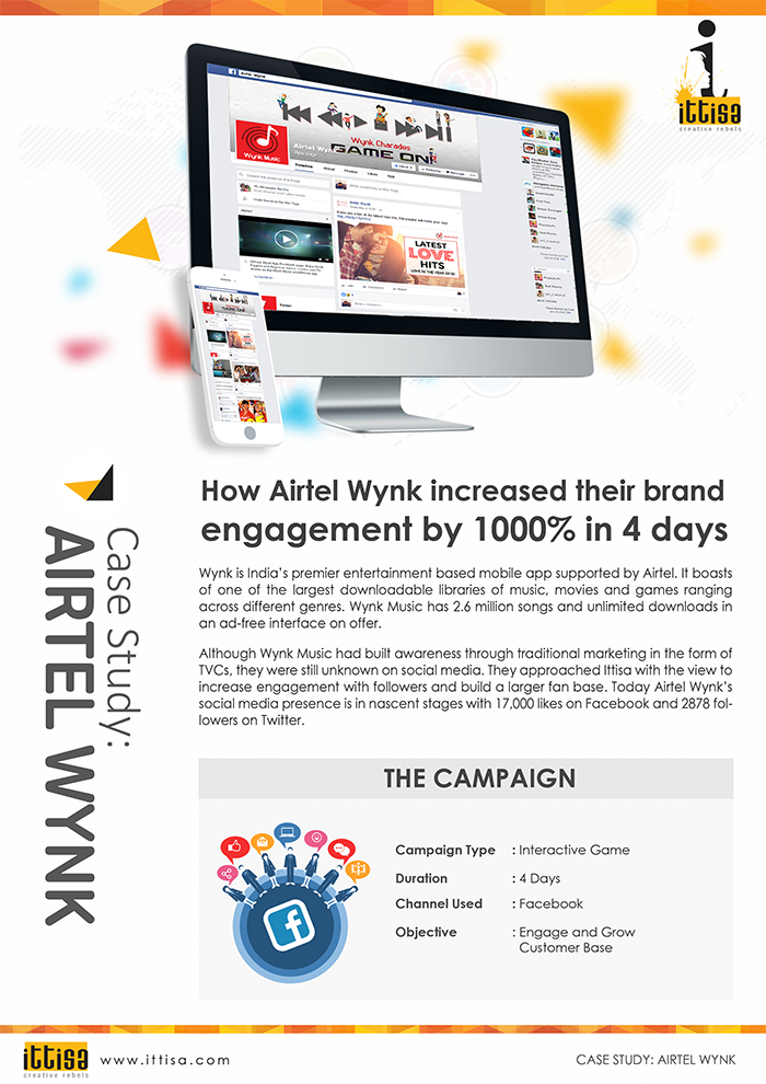 Facebook advertising case study by Ittisa on Airtel Wynk