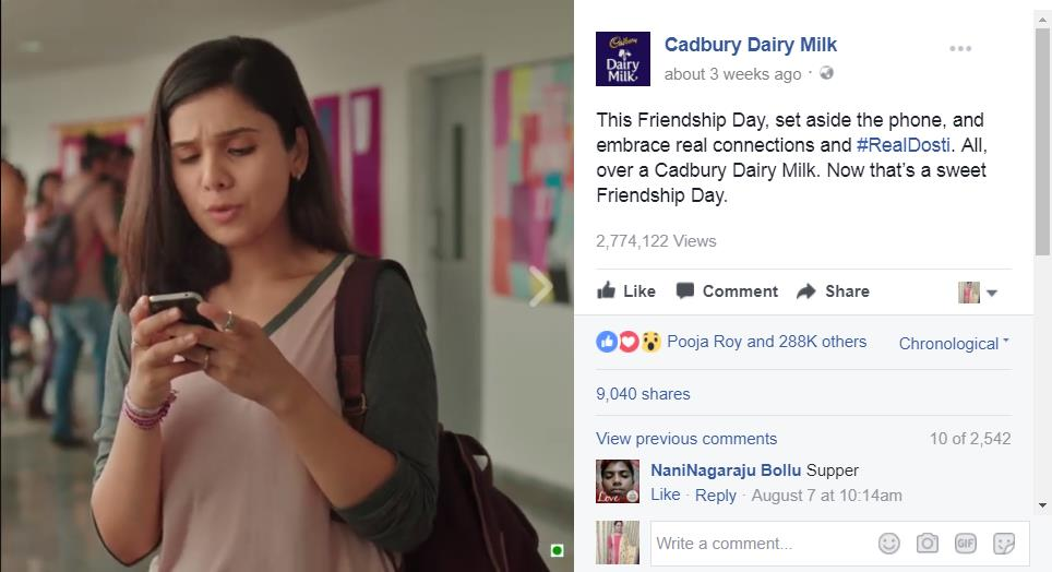 Cadbury Dairy Milk Friendship Day Campaign