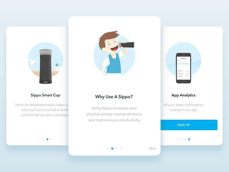 App design for Easy onboarding