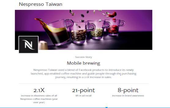 nespresso taiwan Facebook marketing