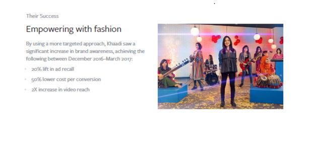 khadi Facebook marketing success