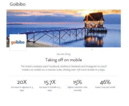 goibibo facebook campaign