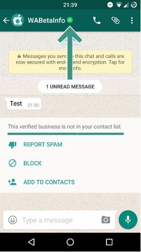 verified whatsapp for business