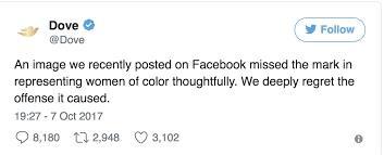 Dove Apology Tweet