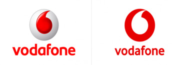 vodafone revamped logo