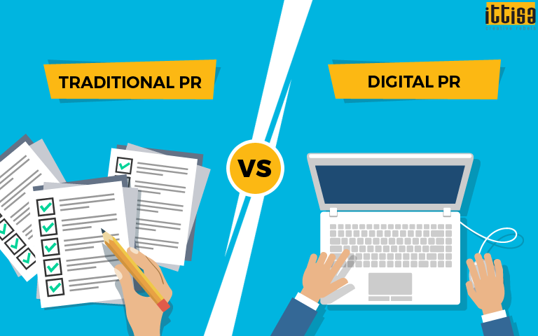 Traditional PR Vs Digital PR brand promotion