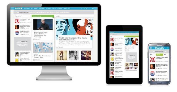 mobile version of website for optimization