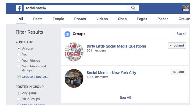 Importance of Facebook groups