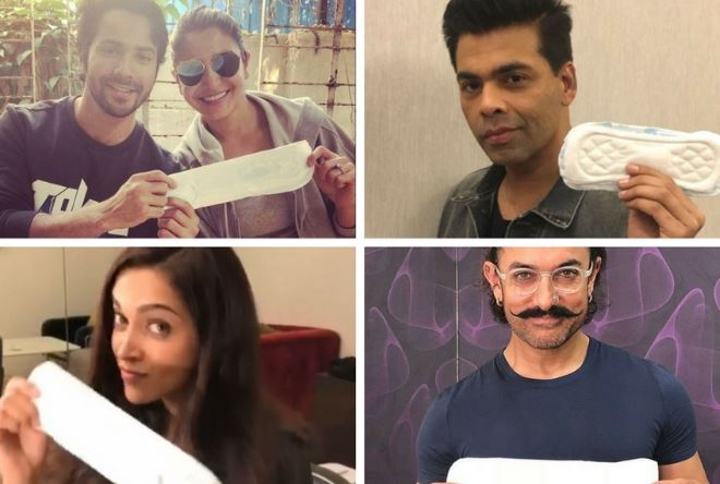 Bollywood celebrities sports padman challenge
