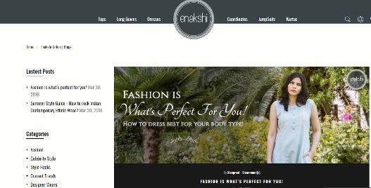 enakshi eCommerce blog