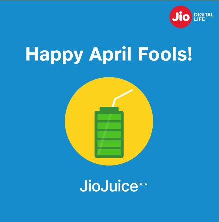 reliance jio Fool's day post