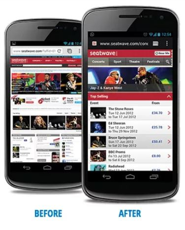 Mobile optimized Marketing