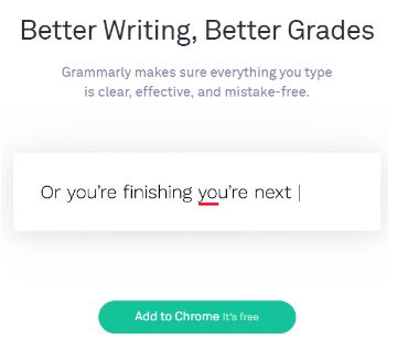 Google Chrome Extension Grammarly