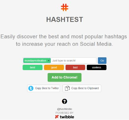 Google Chrome Extension Hashtest