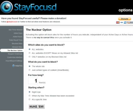 Google Chrome Extension StayFocusd