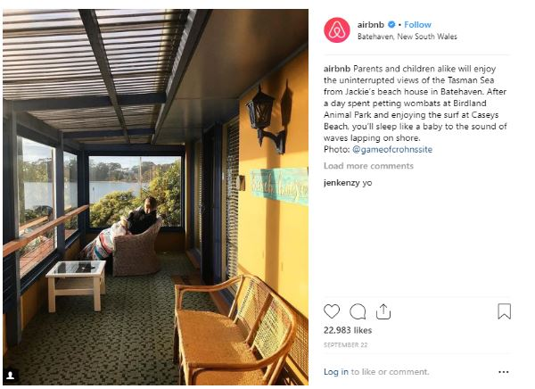 Airbnb Marketing Photo Captions
