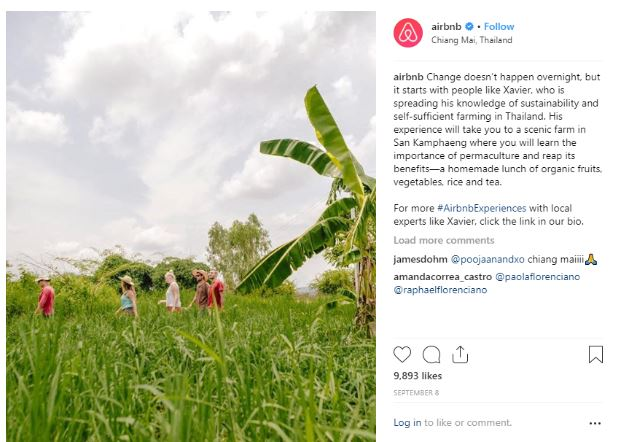 Airbnb user generated content
