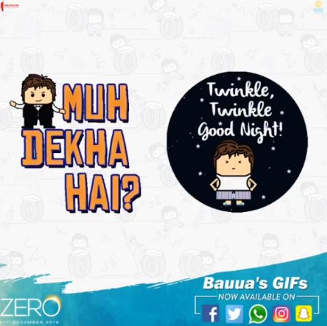 Zero movie whatsapp stickers and GIFs