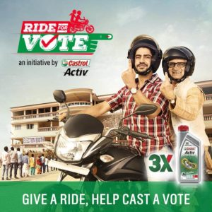 Castrol election vote campaign