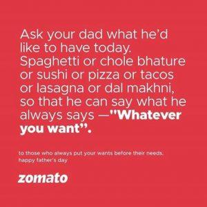 zomato campaign on social media