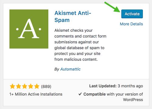 Akismet Anti Spam Plugin
