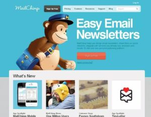 Mail chimp email tool