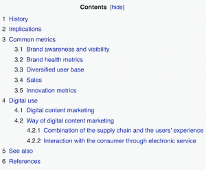 SEO Tabel of Content