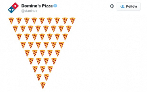 Domino's using emojis