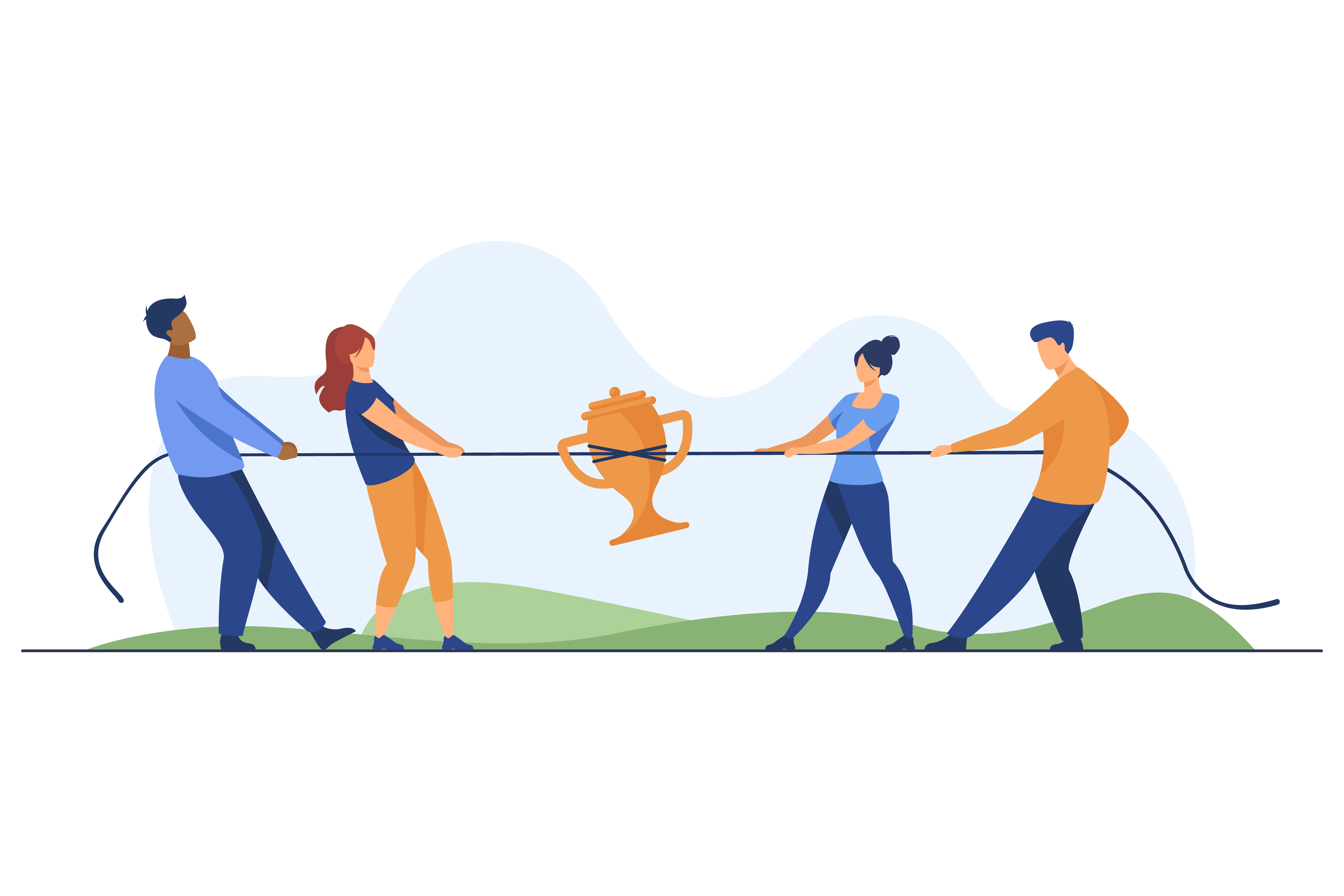 people competing with their competitors using seo strategies